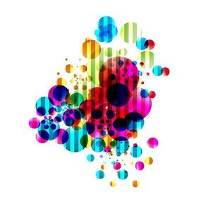 COLORED BUBBLES ABSTRACT VECTOR BACKGROUND.ai