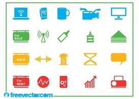 Icons Vector Graphics Set