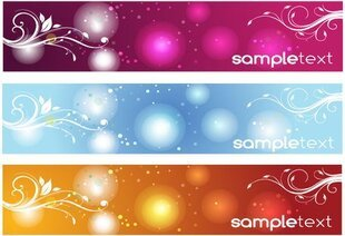 Free Vector Foral Banners