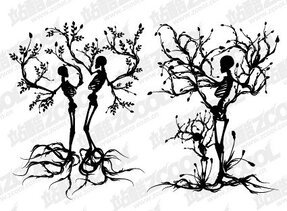 2 skeleton trees