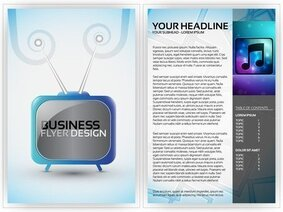 Beautiful Flyer Plate Design 03