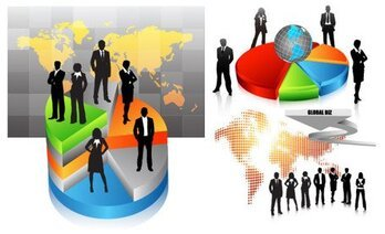 People silhouettes vector material Workplace