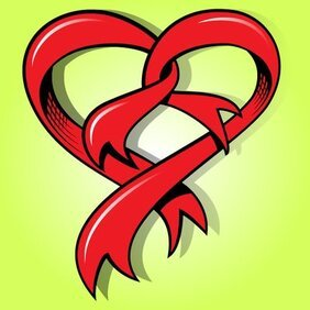 Funky Heart Shape Ribbon