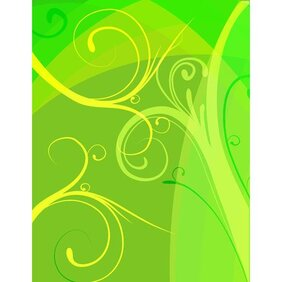YELLOW GREEN FLORAL VECTOR BACKGROUND.ai