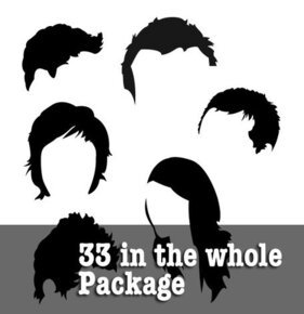 33 Hair Illustrations