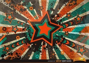 Grunge Vintage Star Background