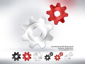PSD gears icon