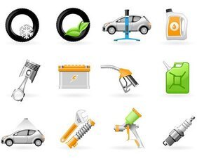 Vector vehicle repair icon