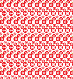 Cloche de Noël et de flocon de neige Free Seamless Pattern