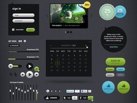 Futurico - User Interface Elements Free Pack