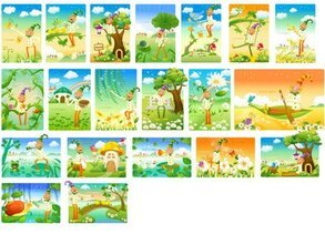 The clown with the landscape Vector Series