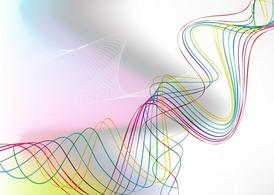 Abstract Color Ribbon Graphics