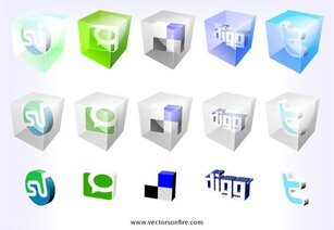 3D Web2.0 Icons door Mao (15 iconen)