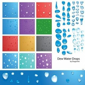 Dew Water Drops