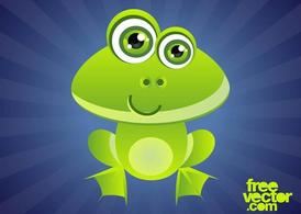 Souriant Cartoon grenouille