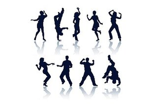 The task of dancing silhouettes