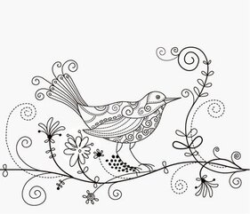 Bird Floral Background