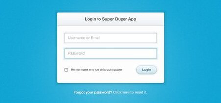 Clean & Simple Login Form (PSD)