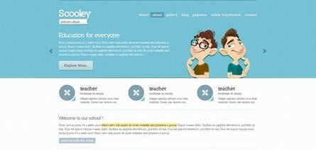 Primary School Free Website PSD Theme