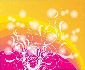 Dotted Colored Vector With Swirls D