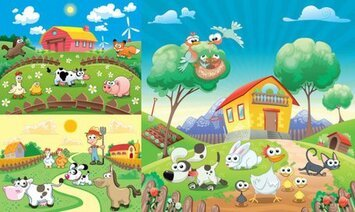 Vector lovely Happy Farm
