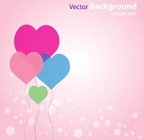 Abstrait amour Background avec vecteur de ballons en forme de coeur gratuit