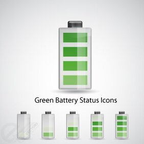 Green Battery status icons