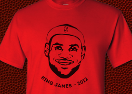 "Lebron ""King"" James free T-Shirt vector file"