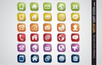 Contacter Icons Set
