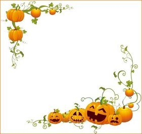 Cadre coin citrouille Halloween