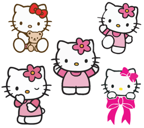 自由的 Hello kitty 矢量图