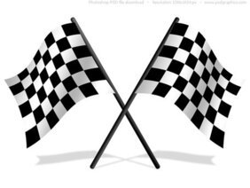 Checkered flag ikony PSD