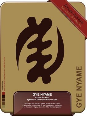 Gye Nyame - à l'exception de Dieu - tatouage