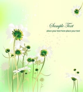 Flower Design Summer Background