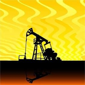 OIL PUMP VECTOR ILLUSTRATION.eps