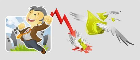 Vector Illustration of cartoon material business and financi