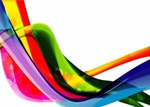 Color Wave Abstract Background