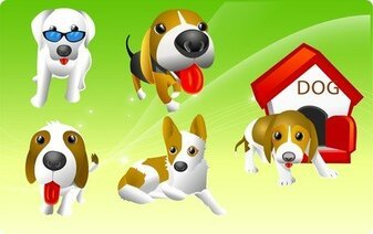 Vector Cute Puppy
