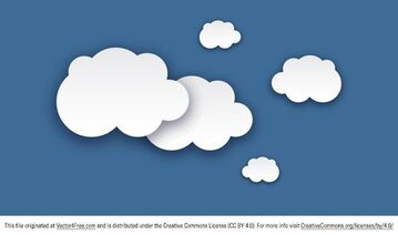 Gratis Cloud vectoren