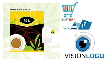 Tea packaging and logo template