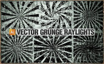 6 Vector grunge raylights