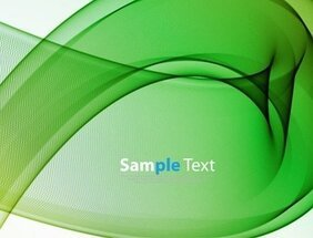 Abstract Green Waves Background