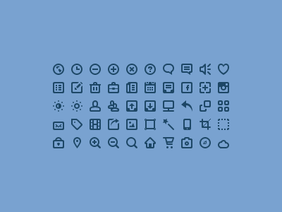 50 Mini Icon Set(PSD)