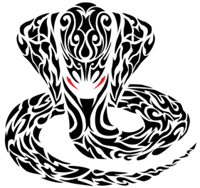 Tatuaggio serpente Cobra tribale
