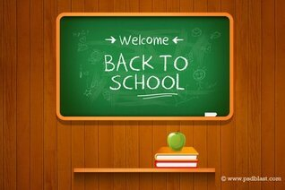Vector Back to school Background (PSD)