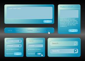 Interface de site Web bleu