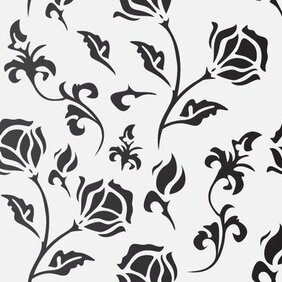Flat Seamless Flourish Pattern