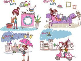 Girl's life, Vector EPS Girl's Life