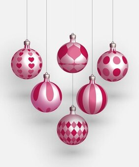 Free Realistic Christmas Ornament Vector Graphic Set