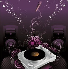 The Trend of Music Illustration Vector Material 2
